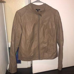 Apt 9 faux leather tan jacket